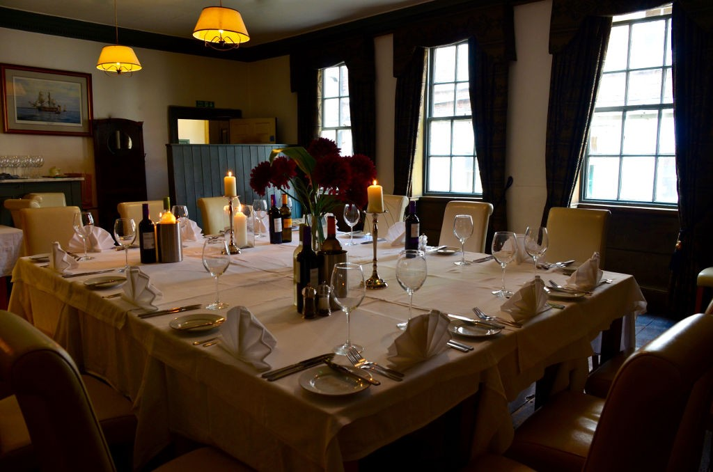White Horse and Griffin Whitby - Private Dining Venue Table Setting